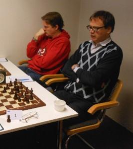 Mats Chronblad,Limhamns SK (närmast kameran) och Tävlingsledaren för Malmö och MSF Open Johan Berntsen.